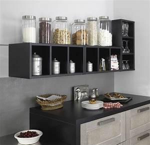 Etagere De Rangement Cuisine : rangement cuisine d co mural pratique c t maison ~ Melissatoandfro.com Idées de Décoration