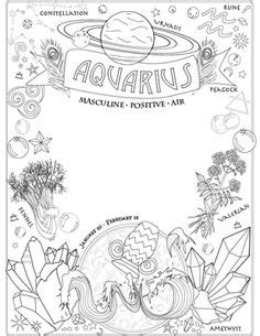 Free printable Gemini adult coloring page. Download it in