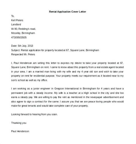 rental application cover letter best of rental application cover letter cover letter 33513