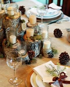 Idee Deco De Table Noel : decoration table de noel rustique ~ Zukunftsfamilie.com Idées de Décoration