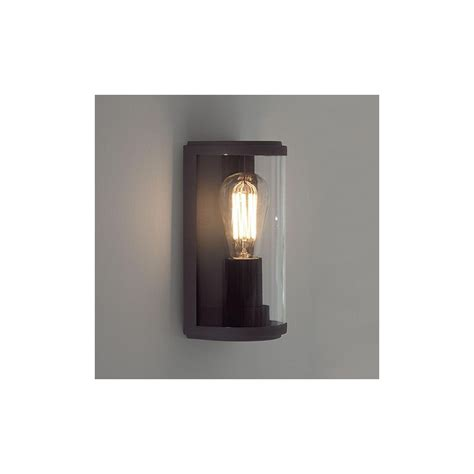 astro 7185 paros outdoor wall light in black clear glass