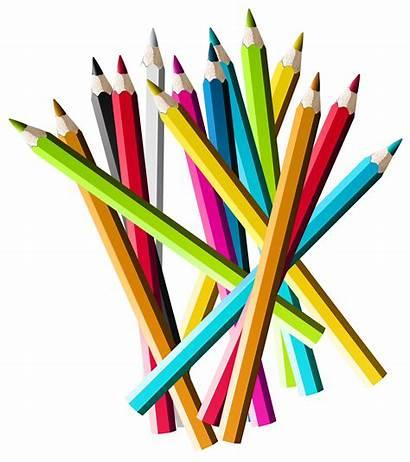 Pencils Pencil Clipart Colorful Colored Transparent Clip