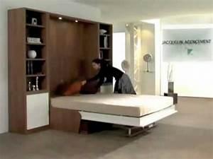 Lit Dans Armoire : armoire lit escamotable campus jacquelin ~ Premium-room.com Idées de Décoration