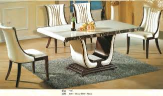 Rattan Dining Room Sets by Luxury Italian Style Furniture Marble Dining Table 0442