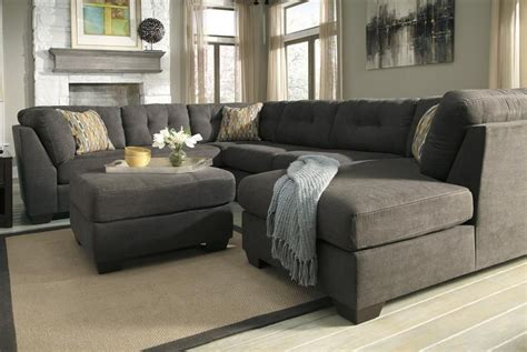 Oversized Sectionals by Oversized Sectional Delta City Steel Gray Microfiber