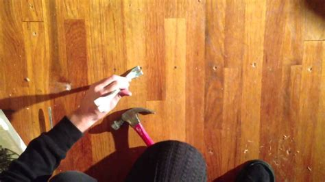 How to remove nails from hardwood floor   YouTube