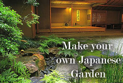 make your own japanese garden