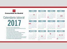 Calendario laboral madrid 2017 2019 2018 Calendar
