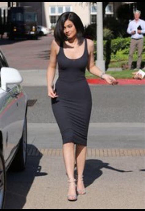 Dress: kylie jenner, bodycon dress, black dress   Wheretoget
