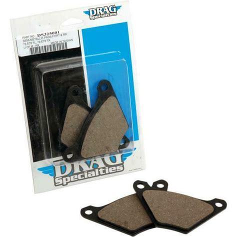 drag specialties organic brake pads   ebay