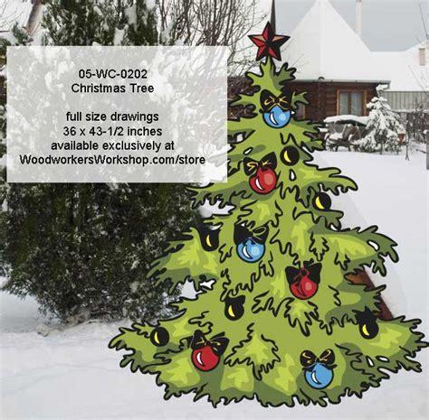 wc  christmas tree yard art woodworking pattern