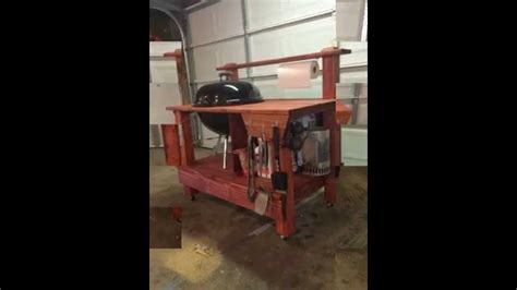 weber grill wooden table youtube