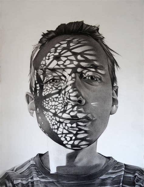 shadowy charcoal portraits  dylan andrews  drawing