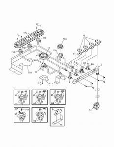 Kenmore Pro 79031003600 Gas Cooktop Parts