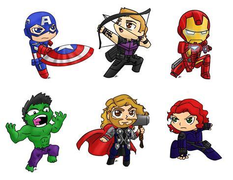 Avengers Chibi By Nickyparsonavenger On Deviantart