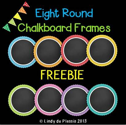 Chalkboard Clipart Frames Circle Clip Classroom Labels