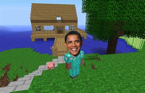 obama playes minecraft  thejangodarkblade  deviantart