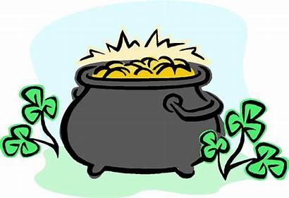 Pot Gold Clip Clipart Luck Irish St