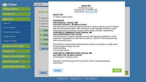 Resume Creator Software Freeware by Cv Creator Software Free