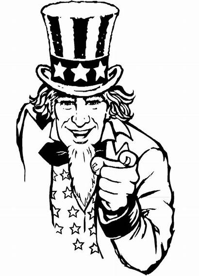 Uncle Sam Coloring Pages Clip Clipart Yosemite