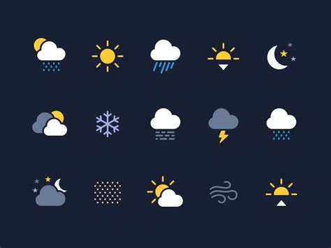 iphone weather symbols weather icons made with figma by alex vanderzon dribbble