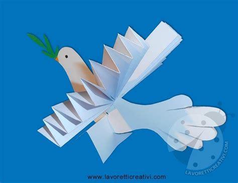 colomba  carta  ramoscello dulivo lavoretti creativi