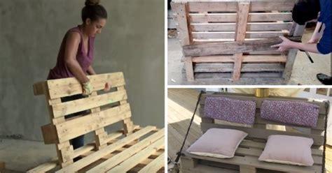 comment faire un canap en palette 8 tutos vidéos pour fabriquer un canapé en palette