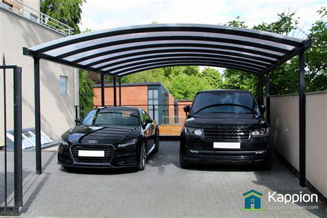 double carport installed  nottingham kappion carports