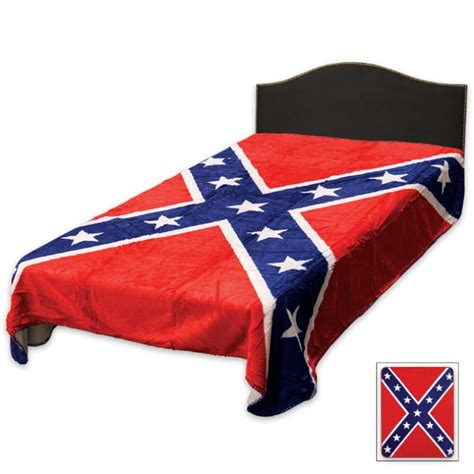 Confederate Flag Bedding by Confederate Rebel Flag Sherpa Throw Blanket Budk