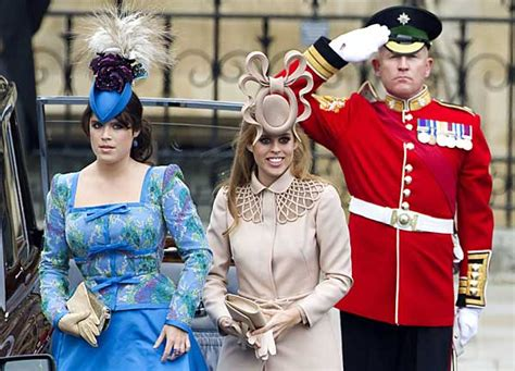 Princess Beatrice and Eugenie hit right style notes at royal wedding | Daily Mail Online