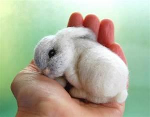 Sleeping Felted Bunny Baby Bunny Felted Needle Felted