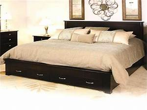 King Size Bed : king size bed frame with storage affordable lobella dark wooden bed frame with storage ft ~ Buech-reservation.com Haus und Dekorationen