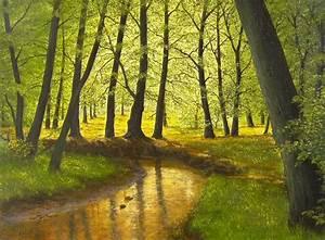 Bilder Bäume Gemalt : der rotbach realismus gegenst ndlich natur bachverlauf von peter kempf bei kunstnet ~ Orissabook.com Haus und Dekorationen