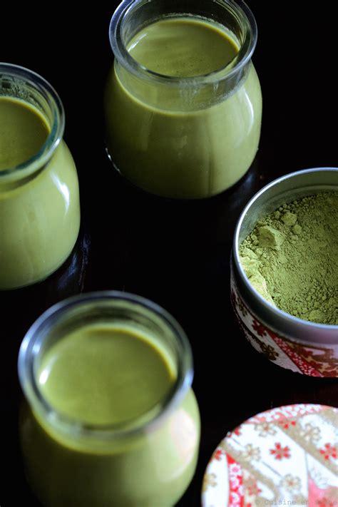 recette de cuisine sans gluten panna cotta au lait de coco et thé matcha cuisine en