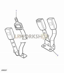 Centre Front Seat Belt Assembly - From Wa138480