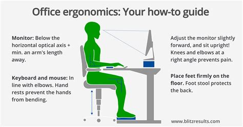 bonne position au bureau ergonomic office calculate optimal height of the desk chair
