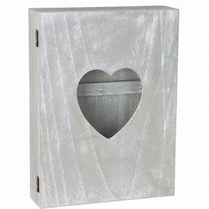 Boite à Clés Originale : boite armoire cl s murale coeur avec vitre design coeur ~ Teatrodelosmanantiales.com Idées de Décoration