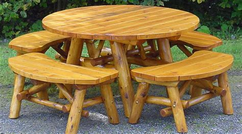 outdoor furniture benches  picnic table