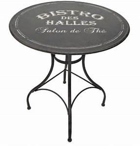 Table De Jardin Bistrot : table m tal bistro des halles ~ Teatrodelosmanantiales.com Idées de Décoration