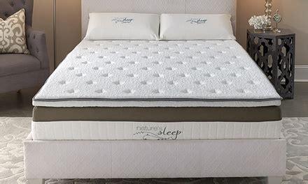 natures sleep pillows nature s sleep hybrid pillowtop memory foam mattress groupon