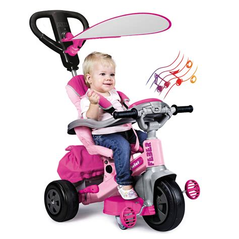 siege smoby feber tricycle evolutif baby twist 360 10 pouces
