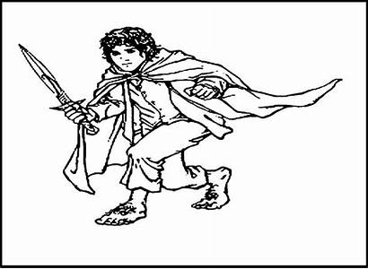 Hobbit Coloring Bilbo Baggins Frodo Lego Lord