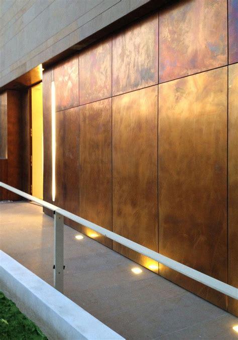 metal sheet  panel  facade tecu designbrownished