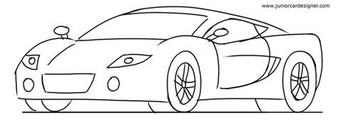 kid car drawing car drawing tutorial sports cars 3 4 front view junior