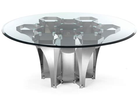 Dining Room Fabulous Round Glass Top Dining Table Metal
