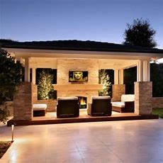 Outdoor Entertainment Area  House Ideas  Pinterest The