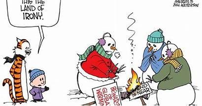 Calvin Hobbes Snowmen Global Warming Cartoonist Comics