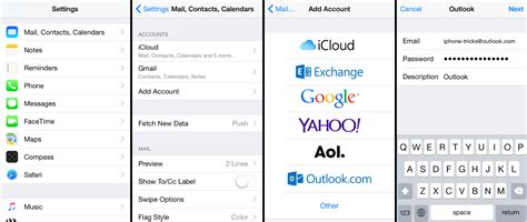 how to add email to iphone how to add outlook email to iphone msn hotmail live