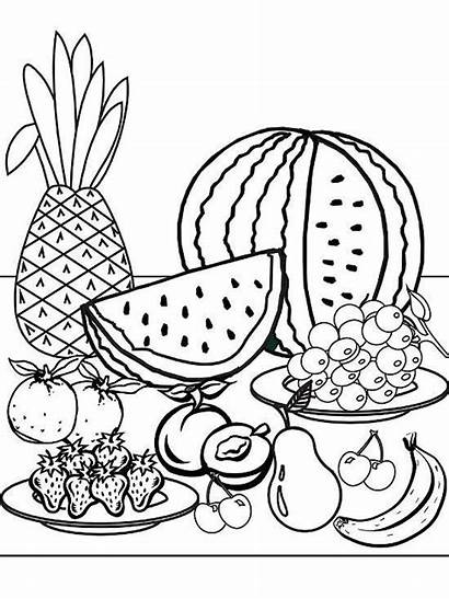 Coloring Pages Summer Printable Fruit Beach Teenagers
