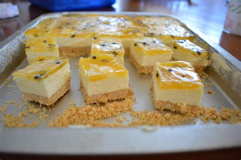 passionfruit cheesecake slice whats cooking ella